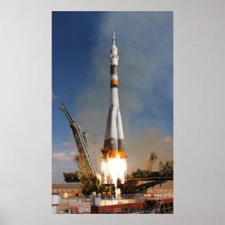ロシア人のSoyuzの離昇- 2008年10月12日 ポスター