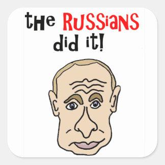ロシア人はそれをPutinの漫画しました スクエアシール