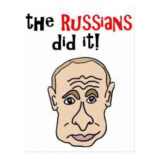 ロシア人はそれをPutinの漫画しました ポストカード