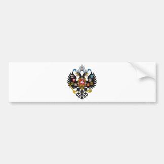ロシア帝国の紋章付き外衣 バンパーステッカー
