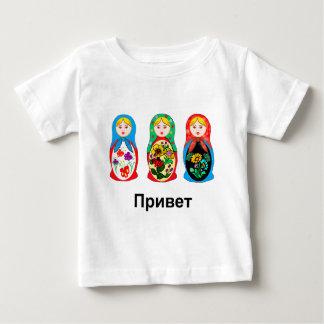 ロシア語こんにちはさようなら ベビーTシャツ