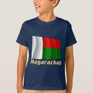 ロシア語の名前のマダガスカルの振る旗 Tシャツ