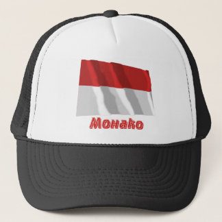 ロシア語の名前のモナコの振る旗 キャップ