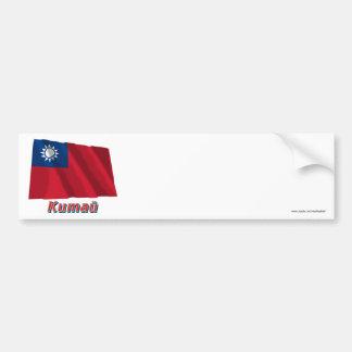ロシア語の名前の中華民国の振る旗 バンパーステッカー