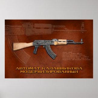 ロシア語AKM ポスター