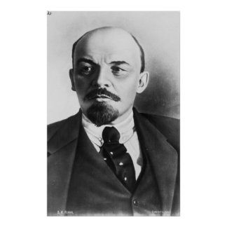 ロシア語Vladimir Ilyichレーニンのポートレート ポスター