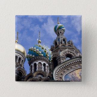 ロシア、セント・ピーターズバーグ、Nevsky Prospekt、2 5.1cm 正方形バッジ