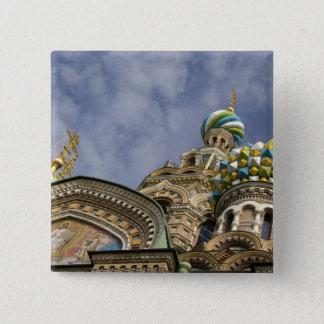 ロシア、セント・ピーターズバーグ、Nevsky Prospekt 5.1cm 正方形バッジ