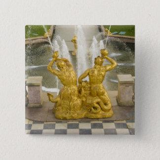 ロシア、セント・ピーターズバーグ。 Samsonの噴水の 5.1cm 正方形バッジ