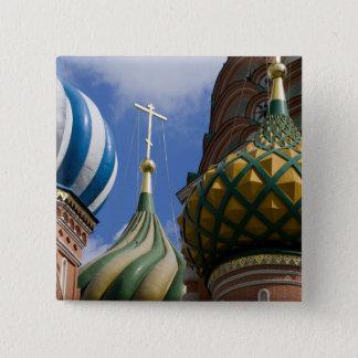 ロシア、モスクワの赤の広場。 St.ベズル 5.1cm 正方形バッジ