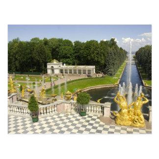 ロシア。 Petrodvorets。 Peterhof宮殿。 ピーター 葉書き