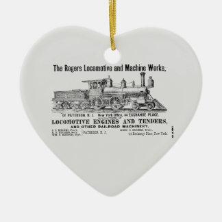 ロジャース機関車は1870年を働かせます セラミックオーナメント