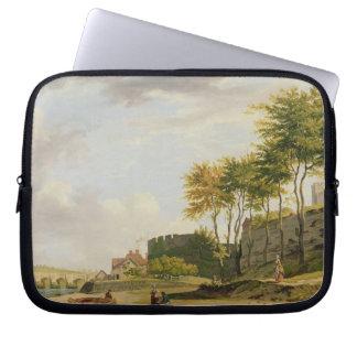 ロチェスターのMedway、1776年(キャンバスの油) ラップトップスリーブ