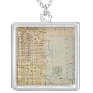ロチェスター、ミネソタの地図 シルバープレートネックレス