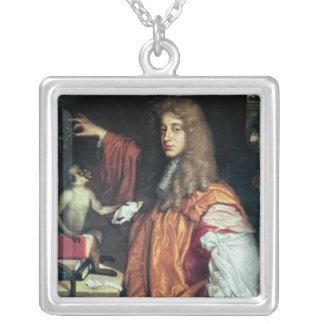 ロチェスター、c.1675のジョンWilmotの第2伯爵 シルバープレートネックレス