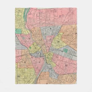 ロチェスターNY (1901年)のヴィンテージの地図 フリースブランケット