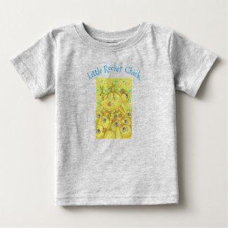 ロッカーのひよこはヒースピットのベビーのジャージーのTシャツの押し寄せます ベビーTシャツ