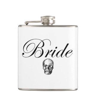 ロッカーの花嫁のゴシックのスカルのスキットルの液体勇気 フラスク