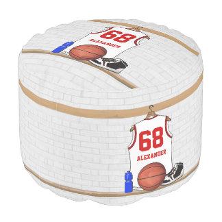 ロッカー室の名前入りなバスケットボールのワイシャツ プーフ