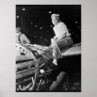 ロッキードの航空機のCorp_Warのイメージのリベッター ポスター