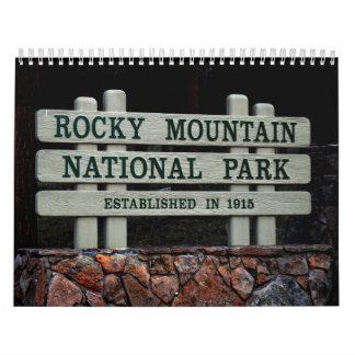 ロッキー山国立公園のカレンダー カレンダー