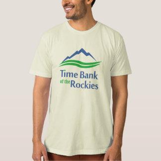 ロッキー山脈のオーガニックな人のTシャツの時間銀行 Tシャツ