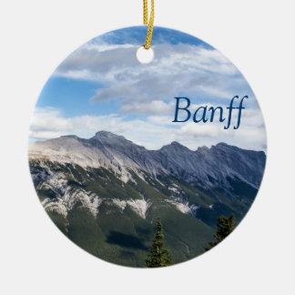 ロッキー山脈のオーナメント- Banff セラミックオーナメント