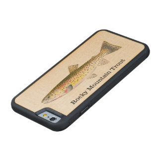 ロッキー山脈のマスの魚の魚釣り CarvedメープルiPhone 6バンパーケース
