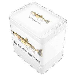 ロッキー山脈のマスの魚 IGLOOクーラーボックス