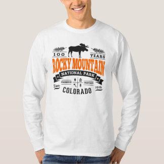ロッキー山脈のヴィンテージのオレンジ Tシャツ