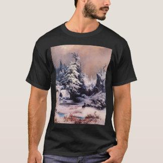 ロッキー山脈の冬- 1867年 Tシャツ