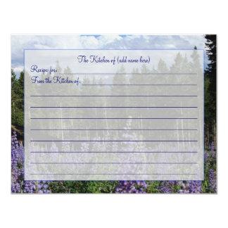 ロッキー山脈の夏のレシピカード カード