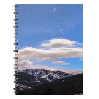 ロッキー山脈の夕べの眺め ノートブック