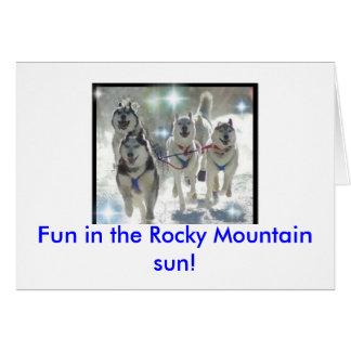 ロッキー山脈の太陽のおもしろい! カード