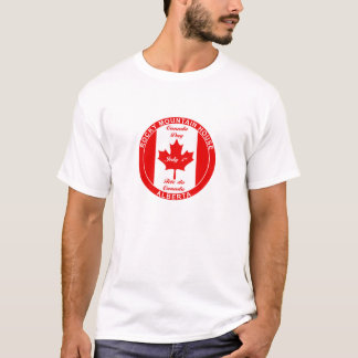 ロッキー山脈の家アルバータカナダ Tシャツ