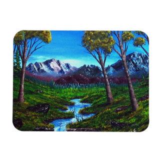 ロッキー山脈の流れの木ヴィスタ マグネット