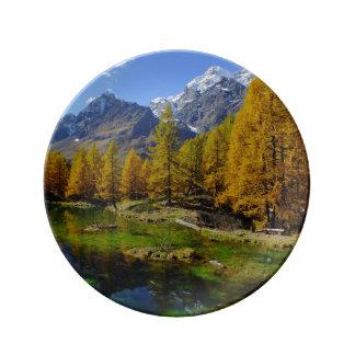 ロッキー山脈の秋 磁器プレート