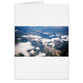 ロッキー山脈の空中写真 カード