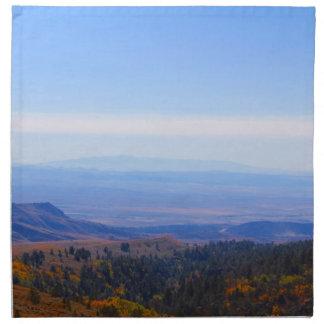 ロッキー山脈の範囲の写真のナプキンワイオミング ナプキンクロス