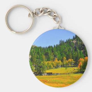 ロッキー山脈の紅葉 キーホルダー