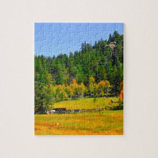 ロッキー山脈の紅葉 ジグソーパズル