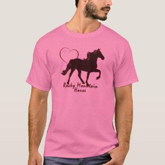 ロッキー山脈の馬のハート Tシャツ
