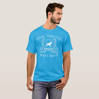 ロッキー山脈のShortyの雄牛のTシャツの白いデザイン Tシャツ