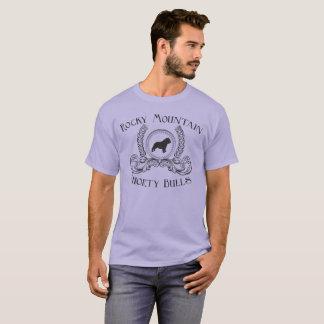 ロッキー山脈のShortyの雄牛のTシャツの黒のデザイン Tシャツ