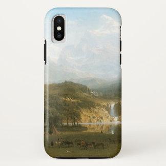 ロッキー山脈、アルバートBierstadt著Landerのピーク iPhone X ケース
