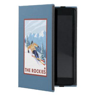 ロッキー山脈- Downhhillの雪のスキーヤー iPad Mini ケース