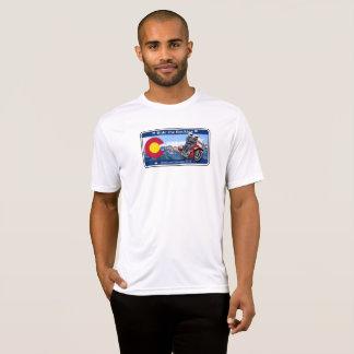 ロッキー山脈FJR1300に乗って下さい Tシャツ