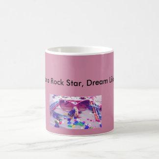 ロックスターのようなパーティ、夢は詩人のマグを好みます コーヒーマグカップ