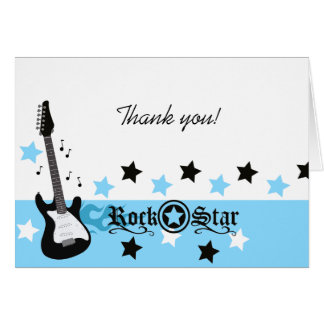 ロックスターのギターの*Blue*はメッセージカードのサイズ感謝していしています カード