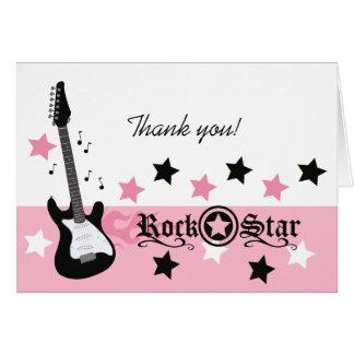 ロックスターのギターの*Pink*はメッセージカードのサイズ感謝していしています カード